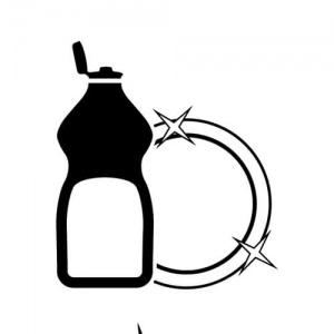 Lavar platos para quemar grasa