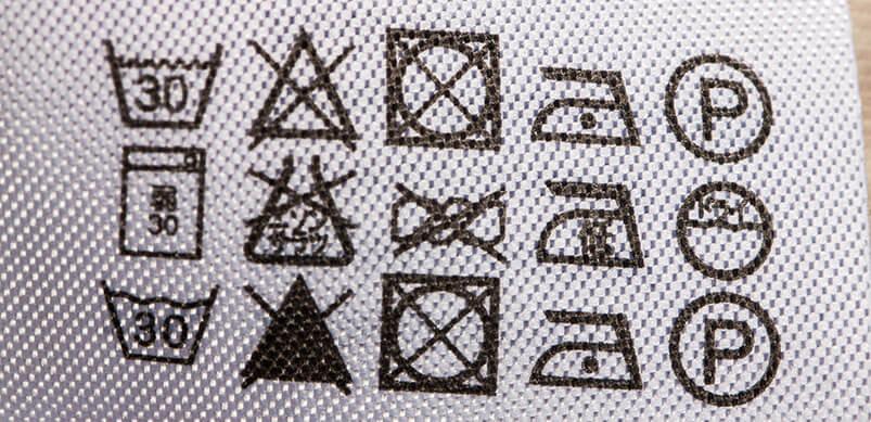 Etiqueta de lavadora